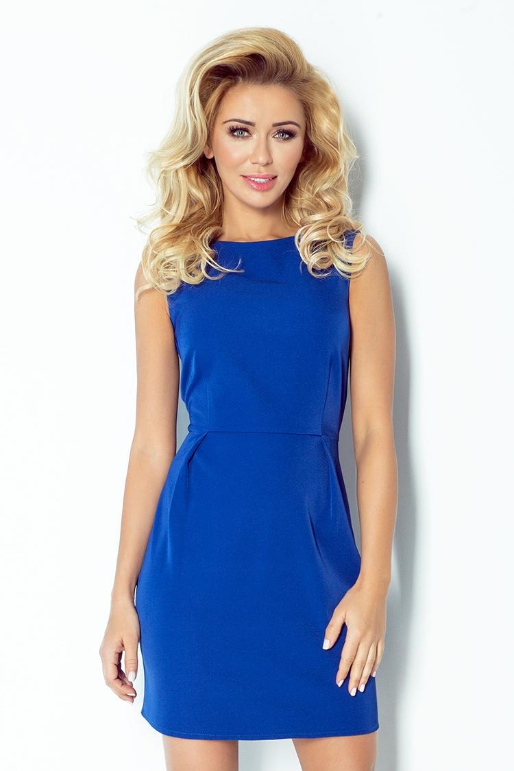 103-1 CLASSIC šaty s záhybov v páse - Chabrowa