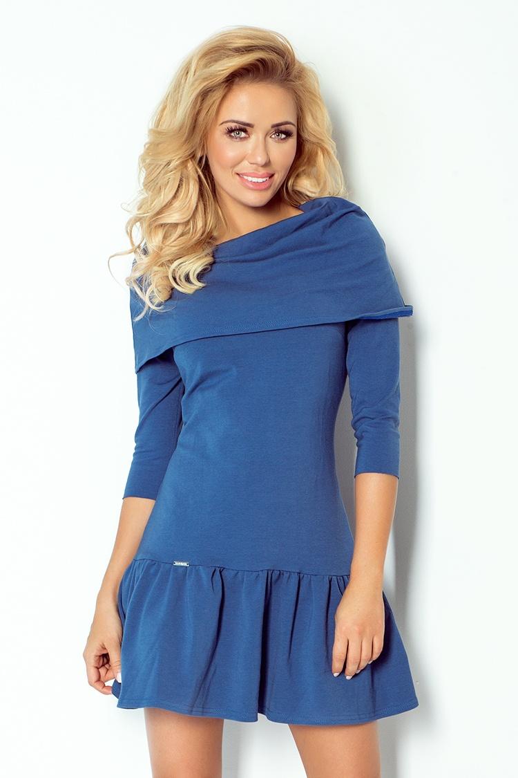 108-2 šaty s poskakovať a GOLF - modré džínsy