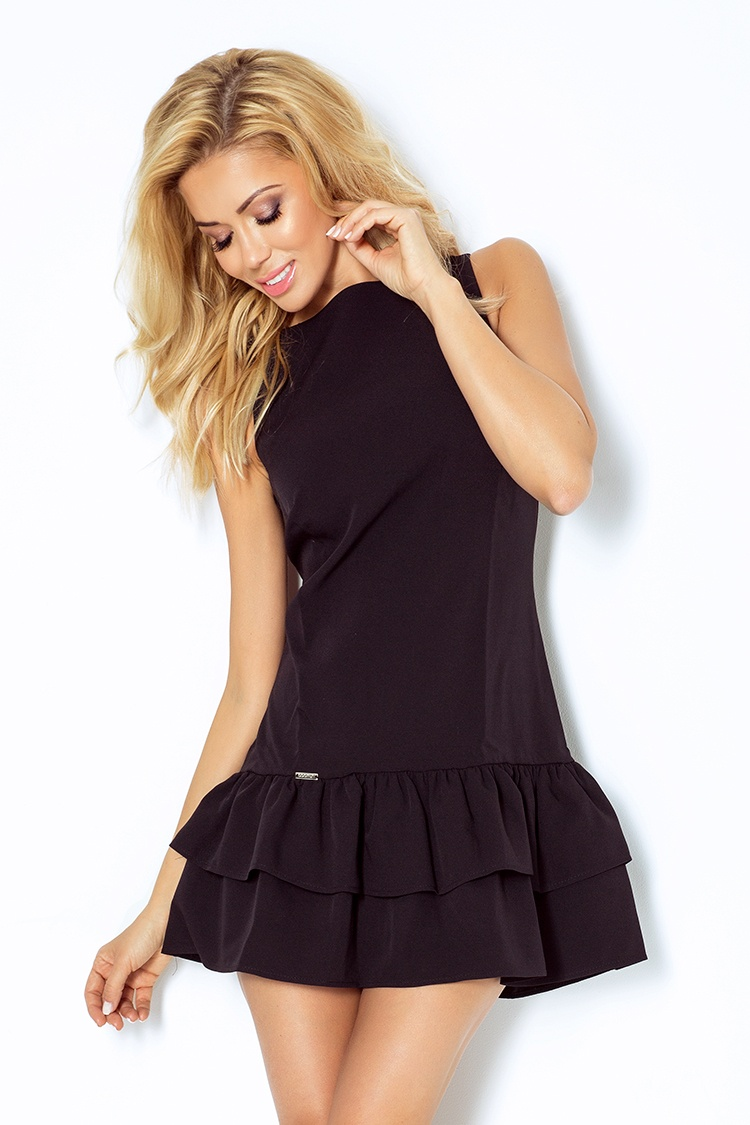113-2 šaty s volánikmi - Marciano - čierna