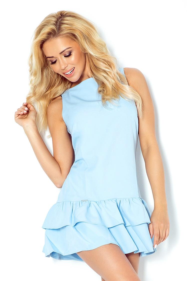 113-3 šaty s volánikmi - Marciano - Modrá