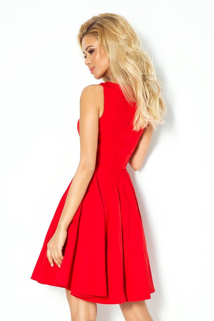 2f53026051 114-3 Sukienka z koła - dekolt w kształcie serca - marciano CZERWONA ...