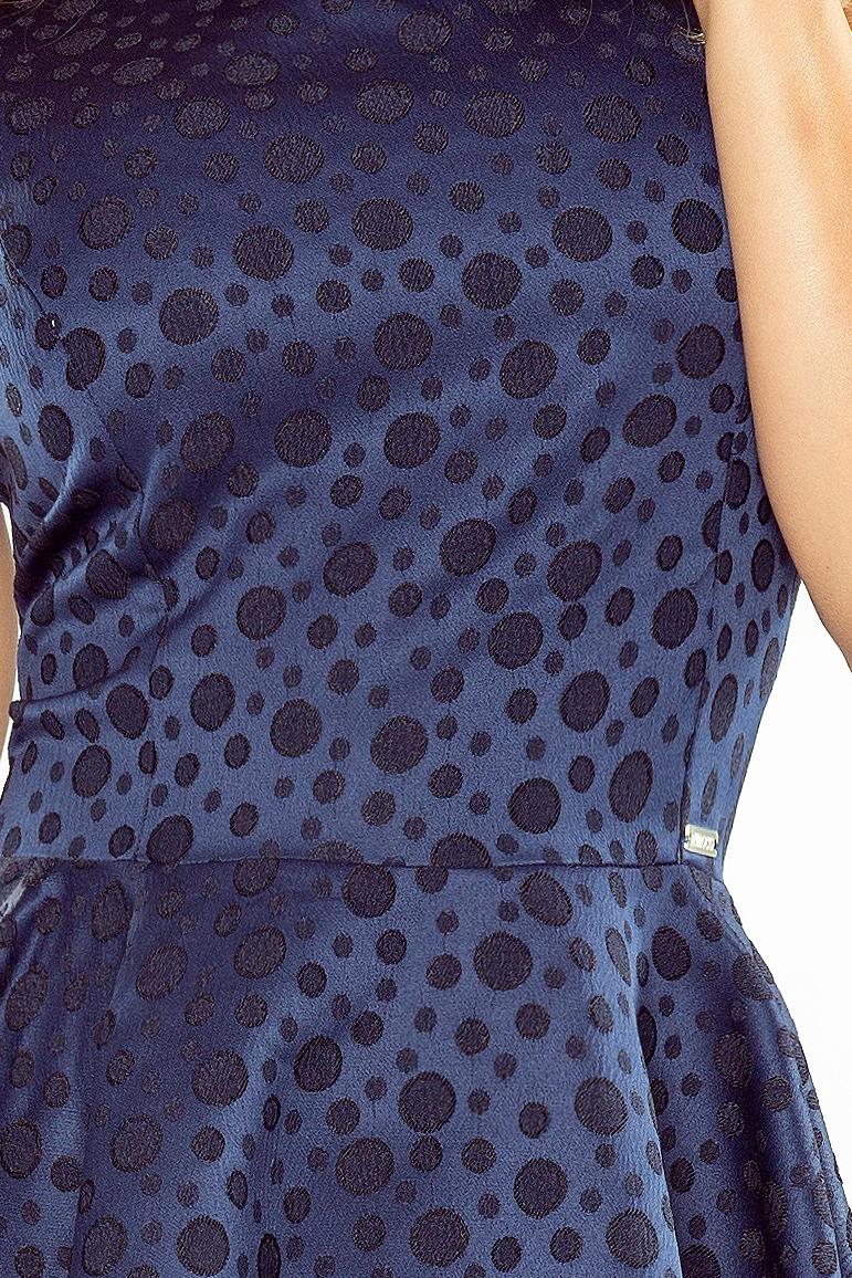 125-22 KOŁO šaty - V-výstrih - WHITE KNOW - KNOW