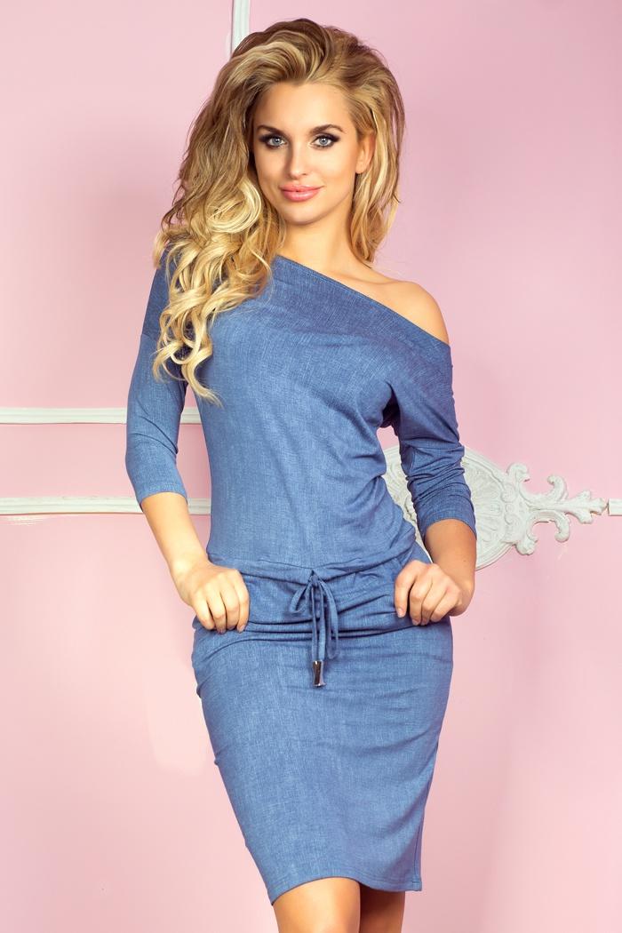 13-20 Dress Sport - viskóza - jasne modré džínsy