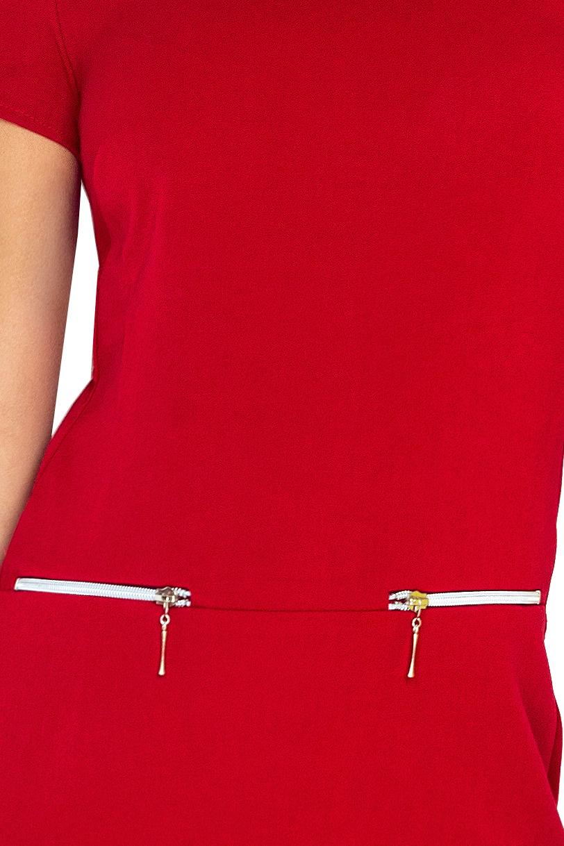 Šaty ASIA 134-2 s dvoma zámky - RED