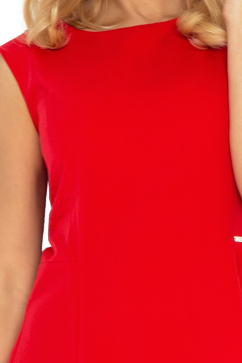 Dress TRAPEZ 137-2 - RED