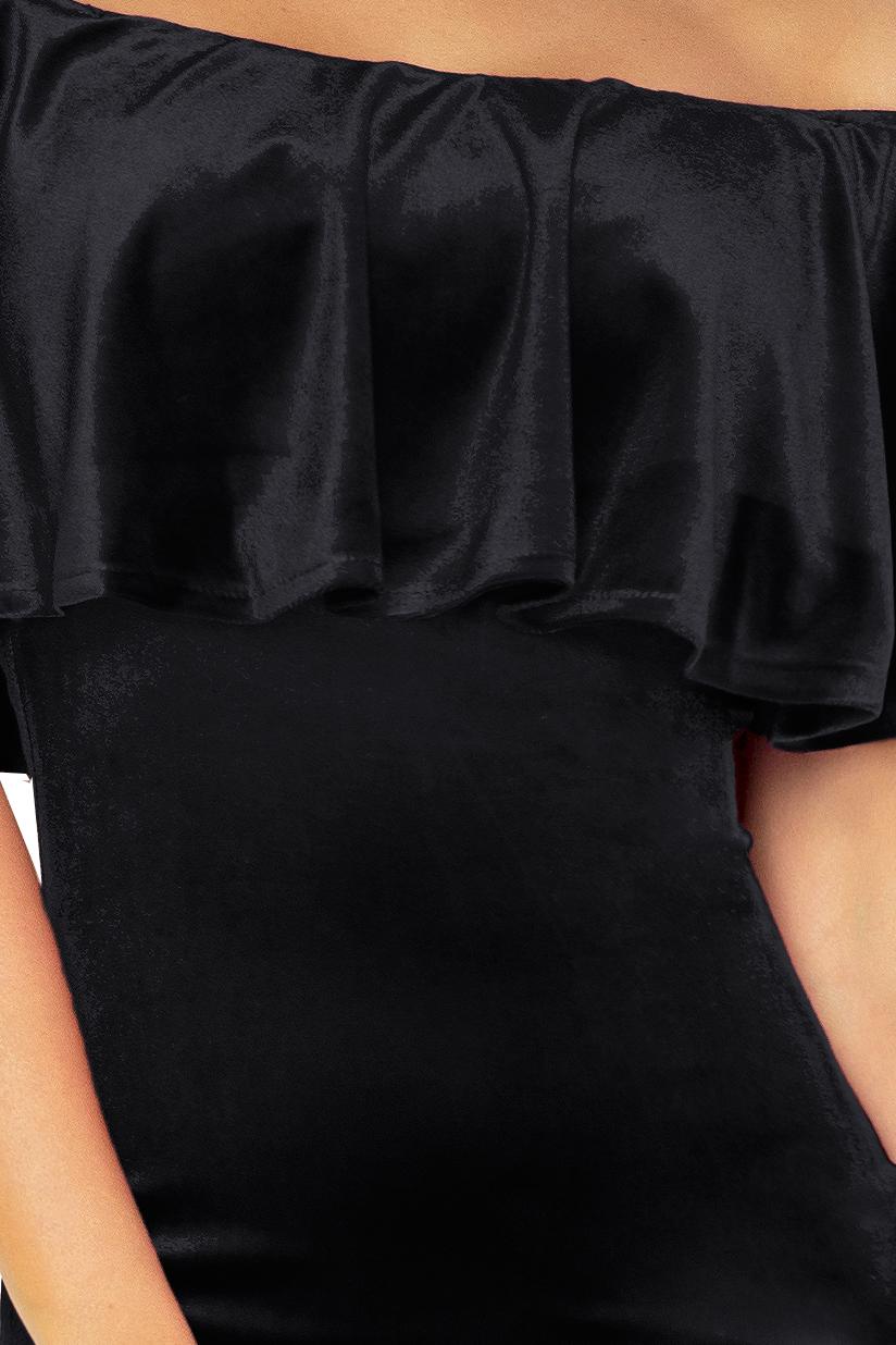 138-4 Španiel šaty - zamat BLACK