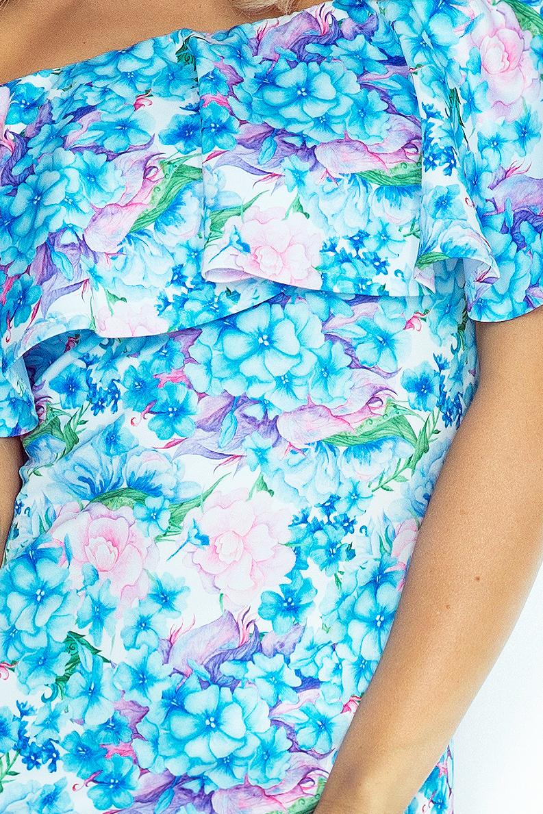 Šaty Španiela 138-5 - Malé modré kvety
