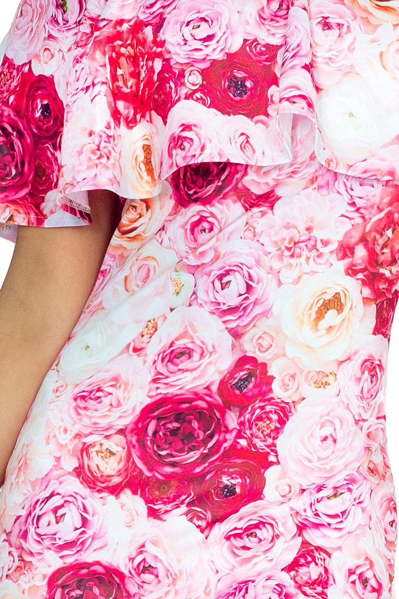 138-6 Španiel šaty - ružové ruže