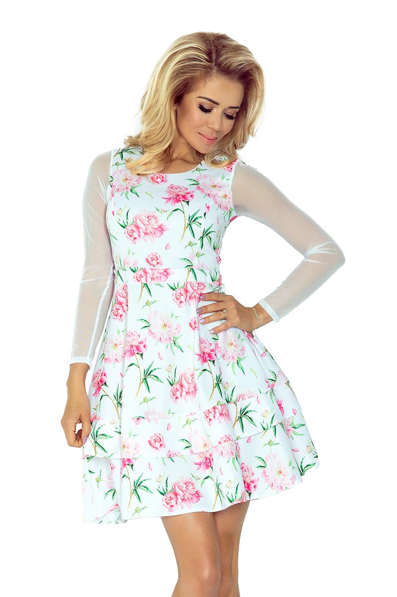 a2ea0cd4bea4 Šaty s tylovými rukávmi - ruže