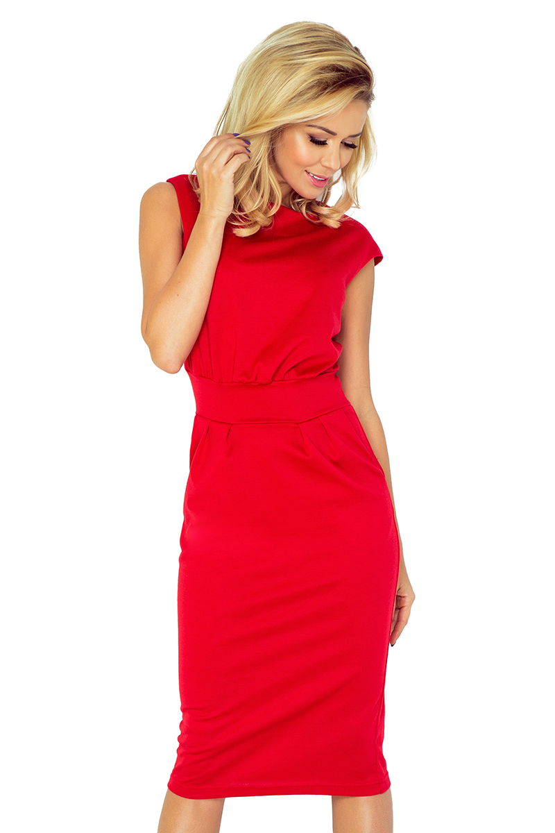Dress SARA 144-2 - RED