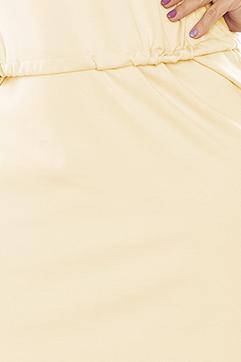 c9515244a9 161-13 AGATA - Sukienka z kołnierzykiem - KREMOWA    numoco