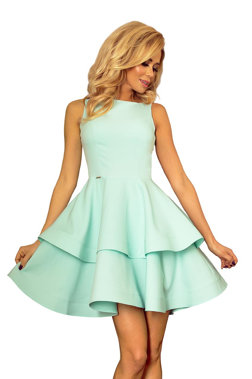 19155950ca 169-4 Sukienka CRISTINA rozkloszowana - MIĘTOWA    numoco