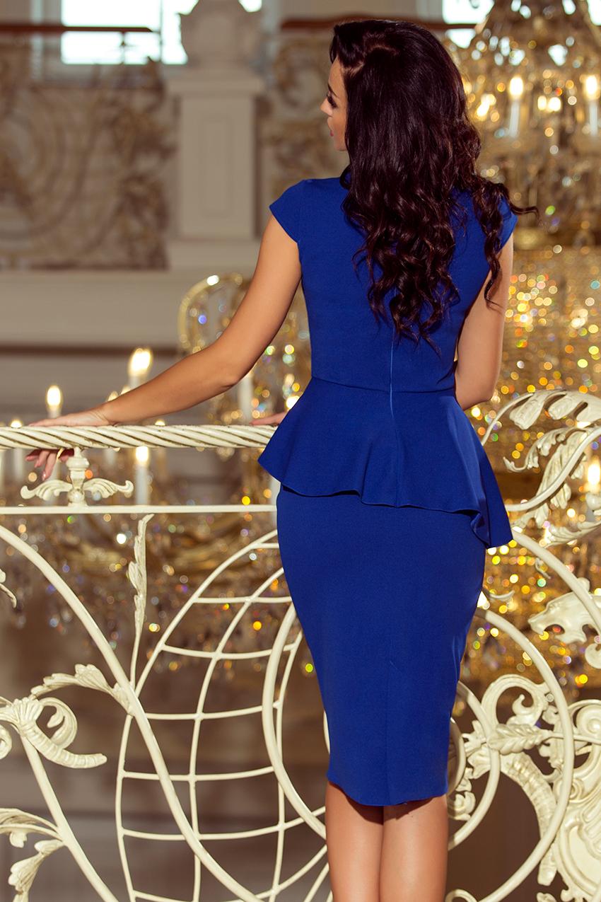 192-7 Elegancka sukienka MIDI z baskinką - CHABROWA