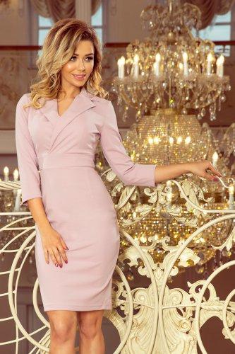 b0b2c3202c 237-1 KELLY Elegancka sukienka z dekoltem - LILA