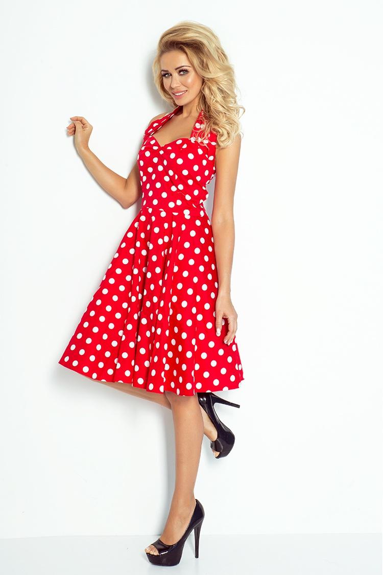 30 12 rockabilly pin up sukienka czerwona w bia e kropki. Black Bedroom Furniture Sets. Home Design Ideas