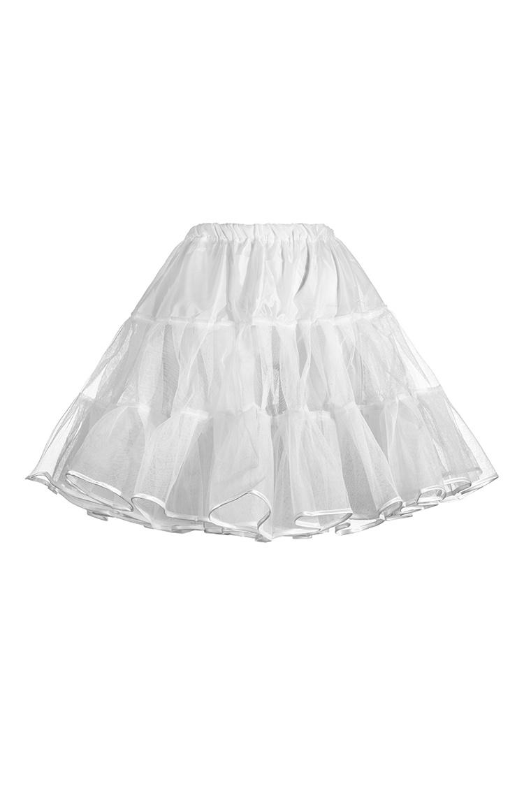 30-4 Petticoat Petticoat White