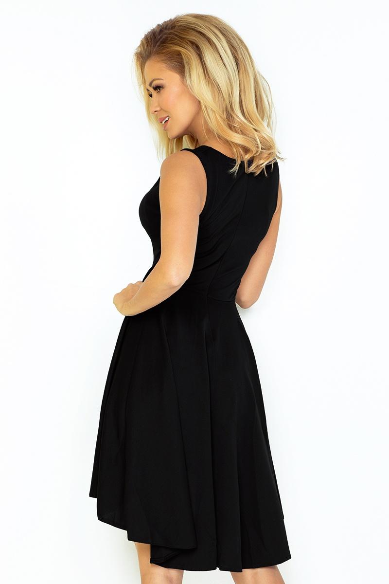 ea0847ec8d 33-4 Lacosta - Ekskluzywna sukienka z dłuższym tyłem - CZARNA    numoco
