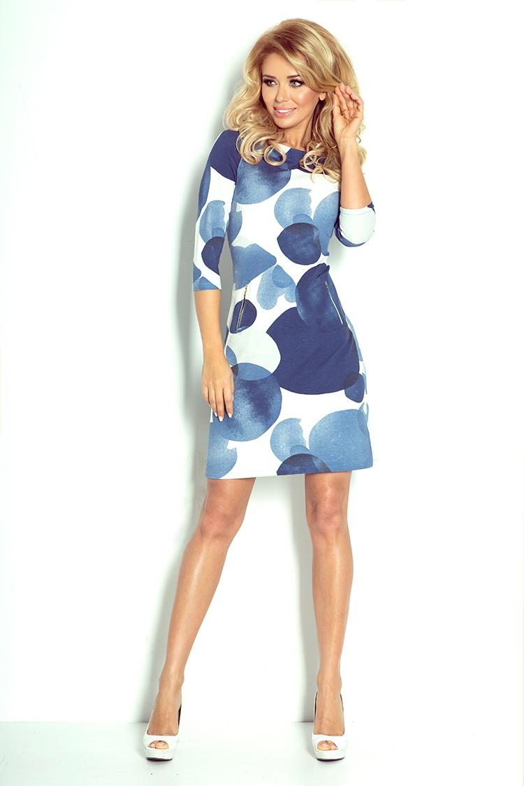 38-13 šaty so zipsami - veľké modré kruhy