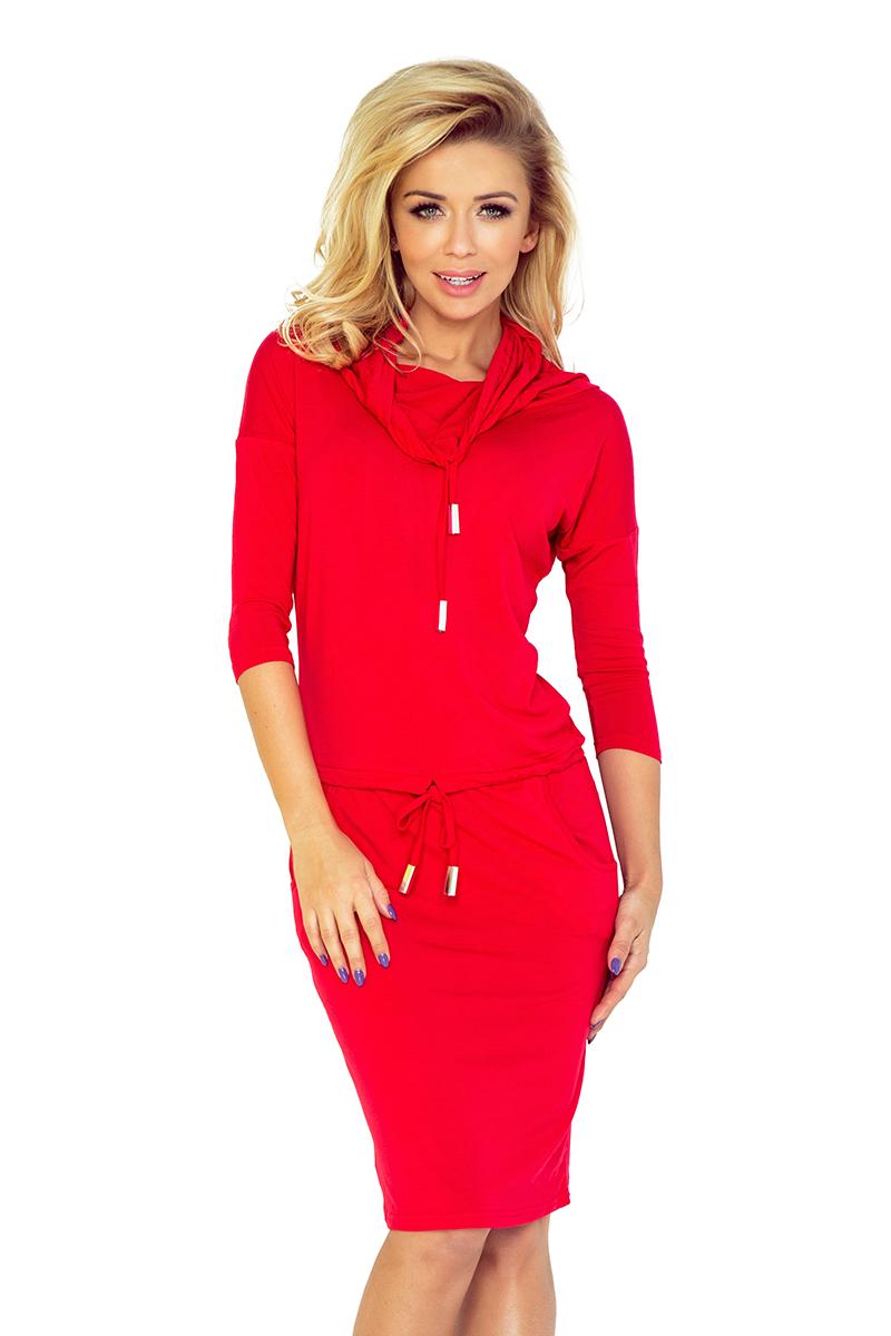 Športové šaty s rolákom červené  b45e8864590