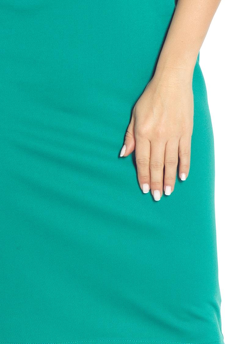 53-13 priliehavé šaty - zelená