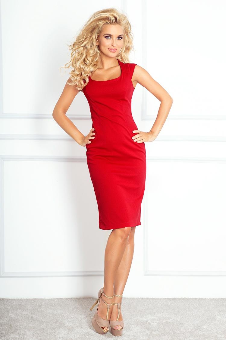 53-17 padnúce šaty - červená Lacoste