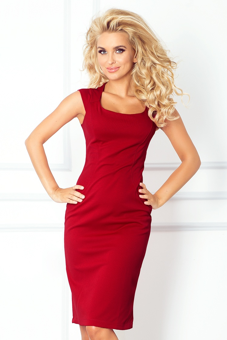 53-25A New priliehavé šaty - bordó Lacoste