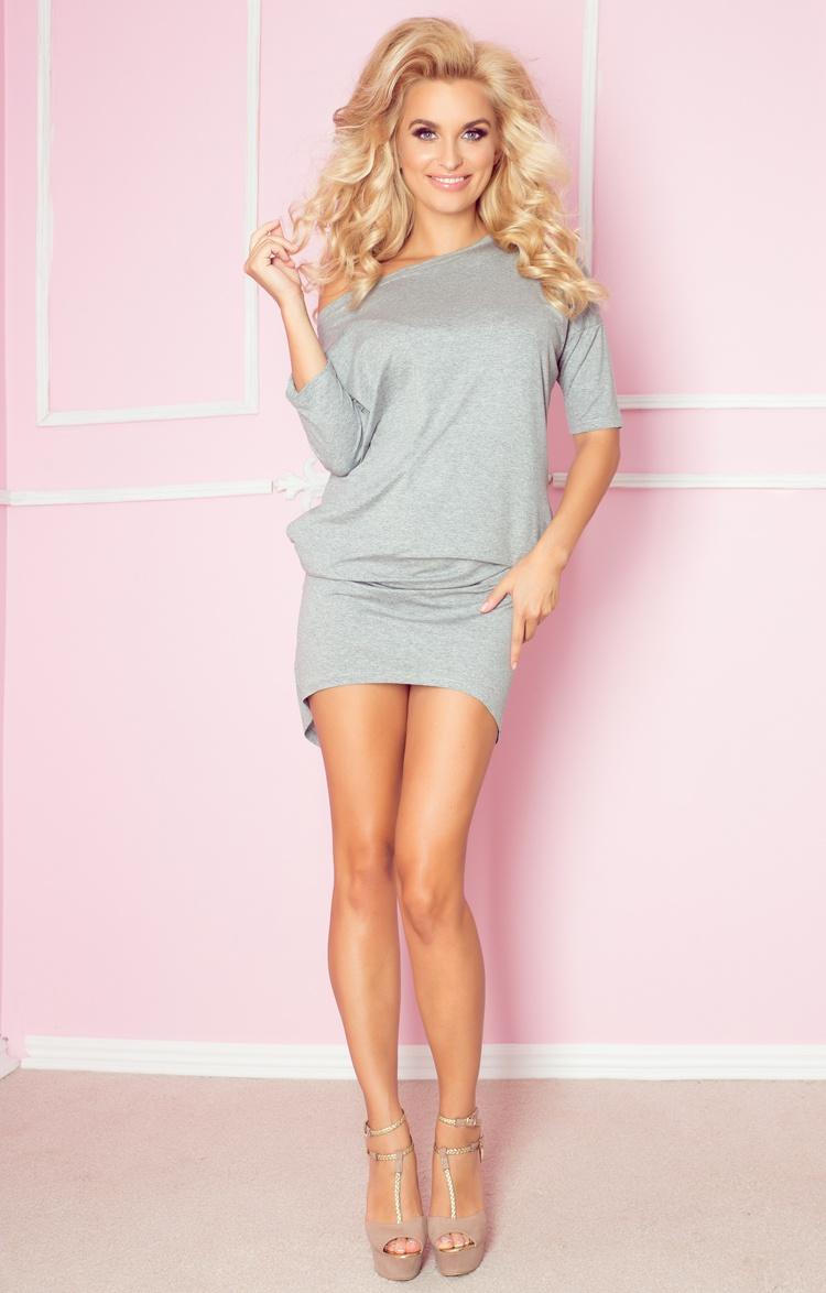 64-5 blúzky šaty - Mirela - svetlo šedá