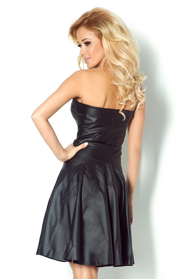 351c0d509c 83-2 Gorsetowa sukienka z ekoskóry - czarna    numoco