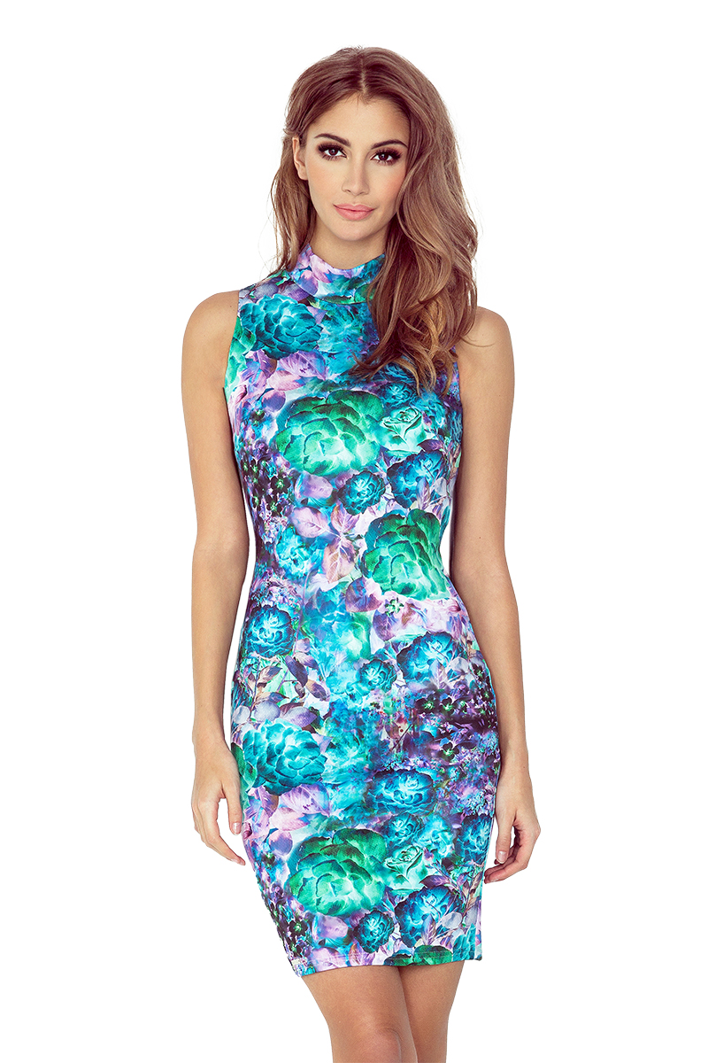MM 002-2 šaty bez rukávov rolák - GREEN ART FLOWERS