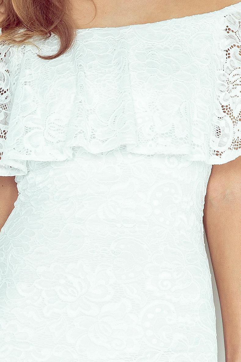 MM 013-1 krajkové šaty - hispánsky - ECRU