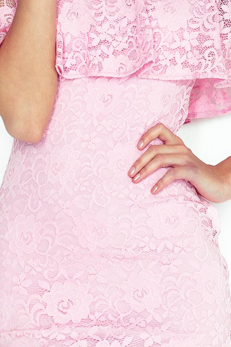 MM 013-2 krajkové šaty - hispánsky - PASTEL PINK