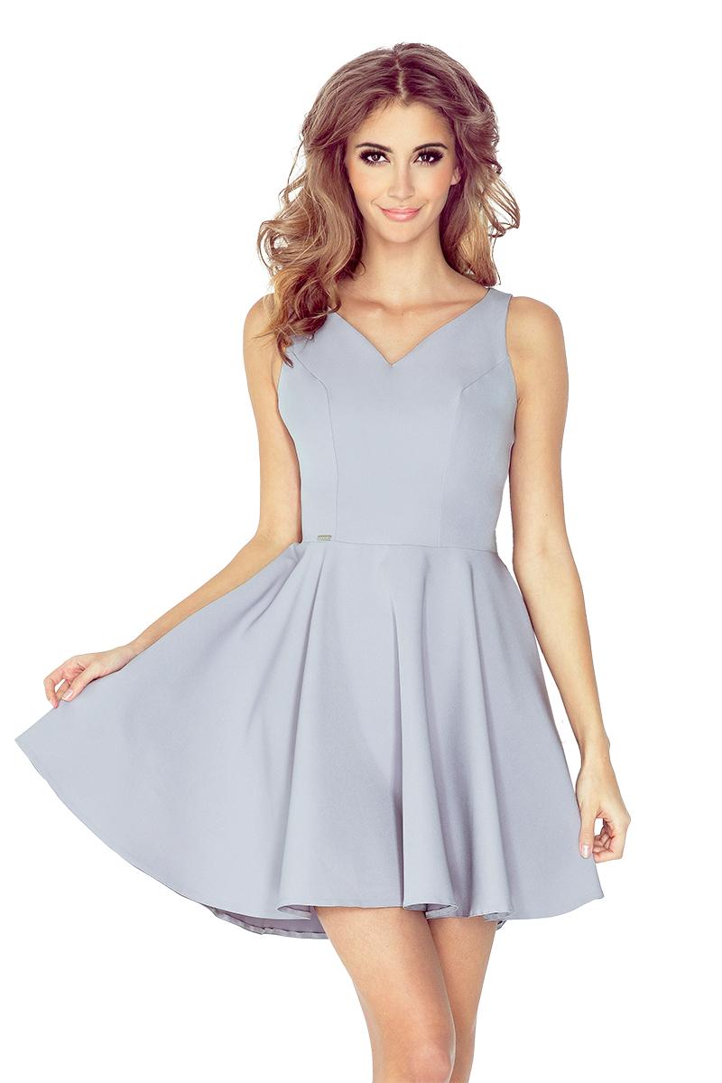 MM 014-3 šaty s kolieskami - srdce výstrih - GREY