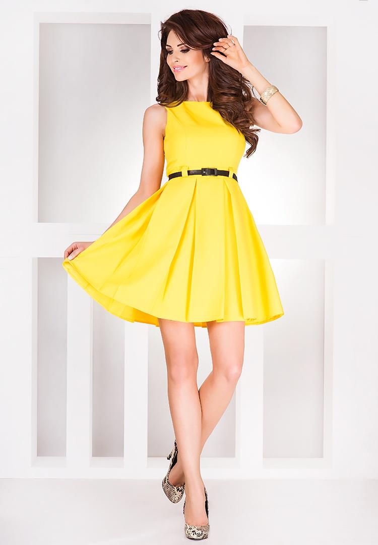 Šaty contrafold - citrón 6-6