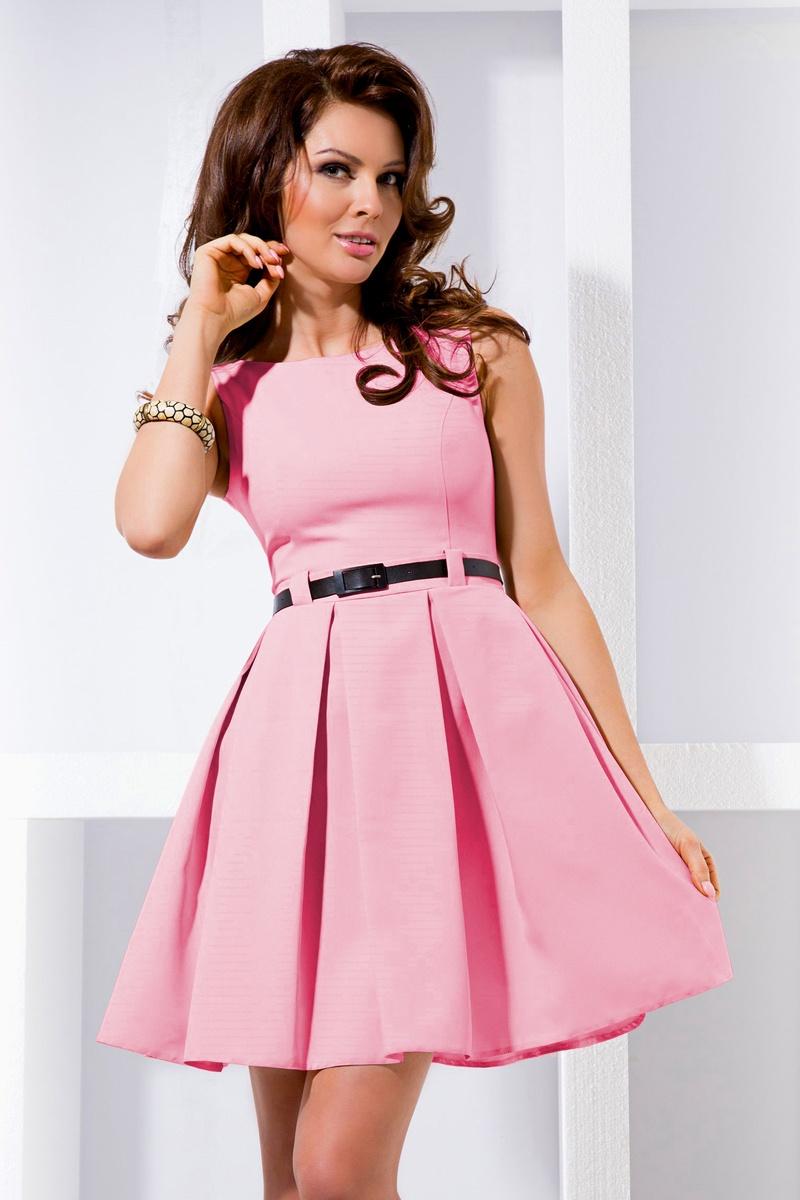 Šaty contrafold - pastelovo ružová 6-5