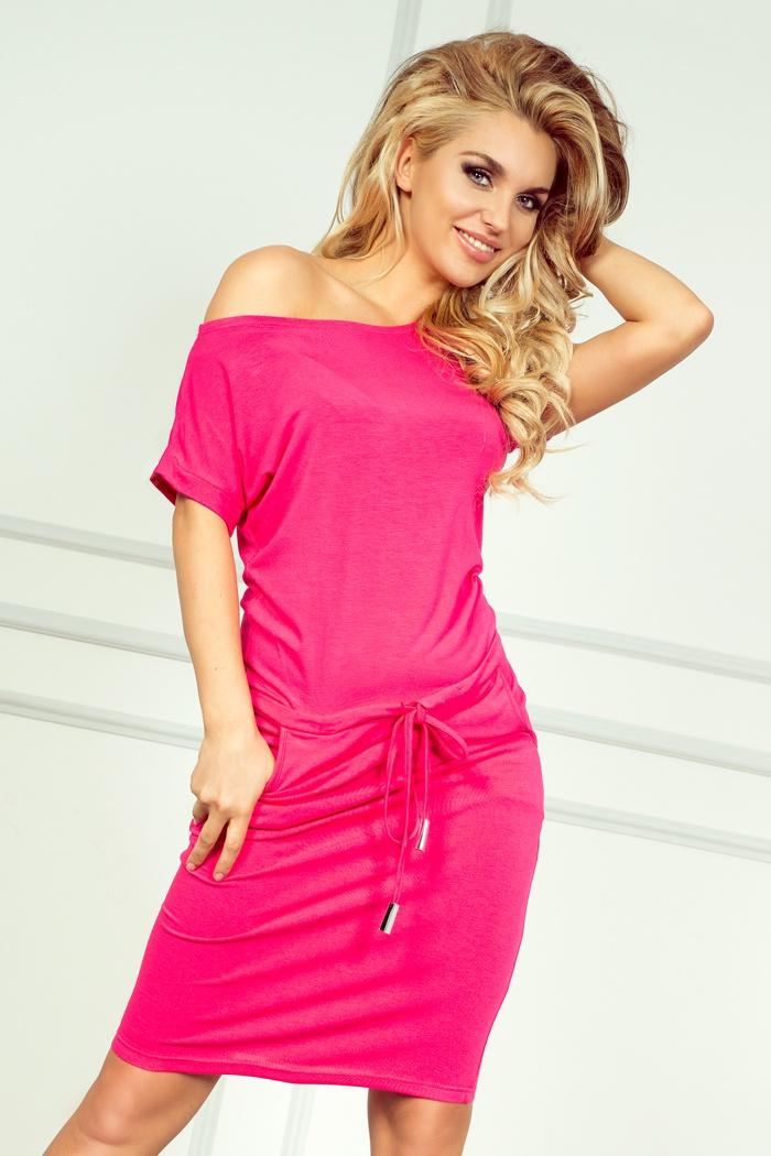 711f28e1bf 56-1 Sukienka sportowa - NEON Różowa    numoco