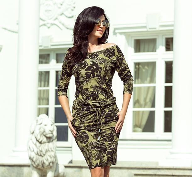 eb9983a218 hurtownia odzieży damskiej - sportowa sukienka khaki. producent odzieży  damskiej łódź
